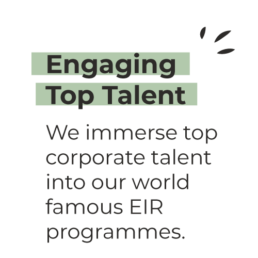 Engaging Top Talent - We immerse top corporate talent into our world famous EIR programmes