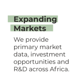 Expanding Markets - We provide primary market data, investment opportunities and R&D across Africa