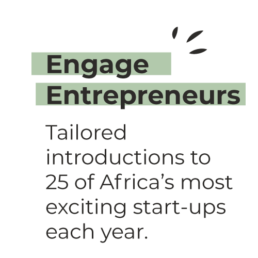 Engage Entrepreneurs - Tailored introductions to 25 of Africa's most exciting start-ups each year
